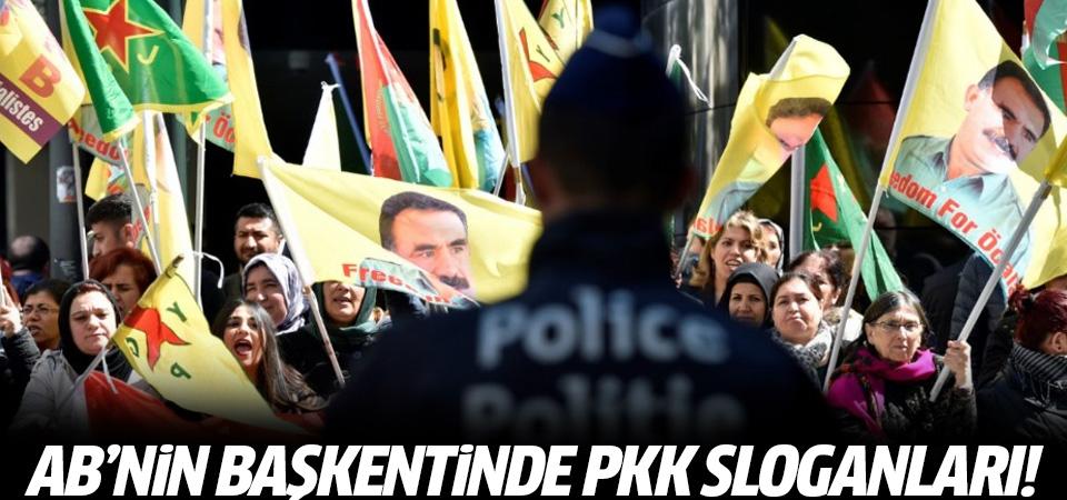 Belçika'da PKK sloganları