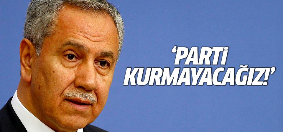 Bülent Arınç'tan yeni parti iddialarına yanıt