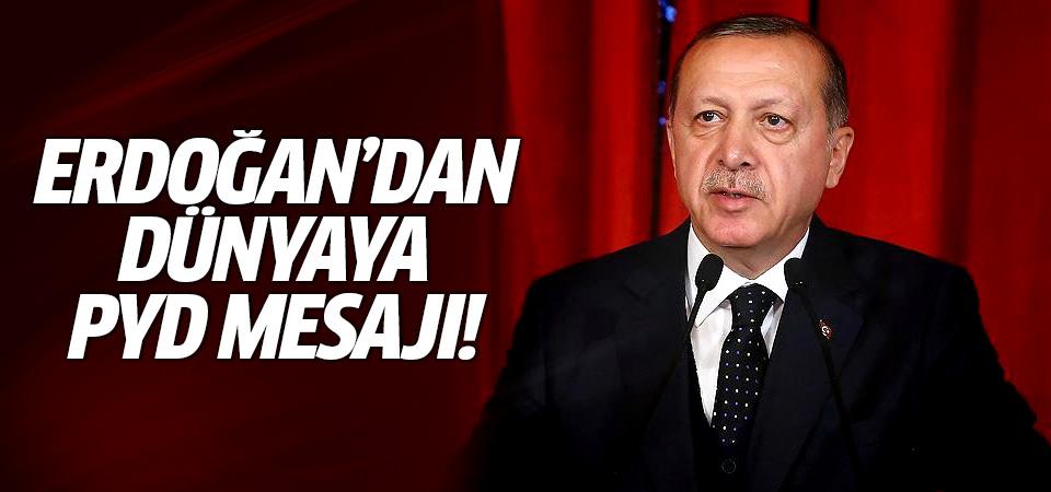 Erdoğan'dan dünyaya PYD mesajı