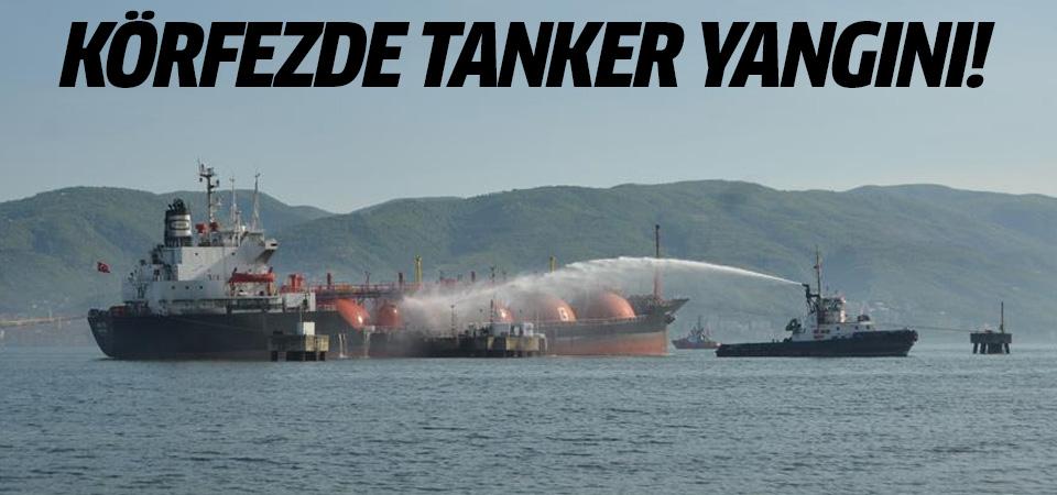 Kocaeli Körfezi'nde LPG yüklü tanker alev alev yanıyor