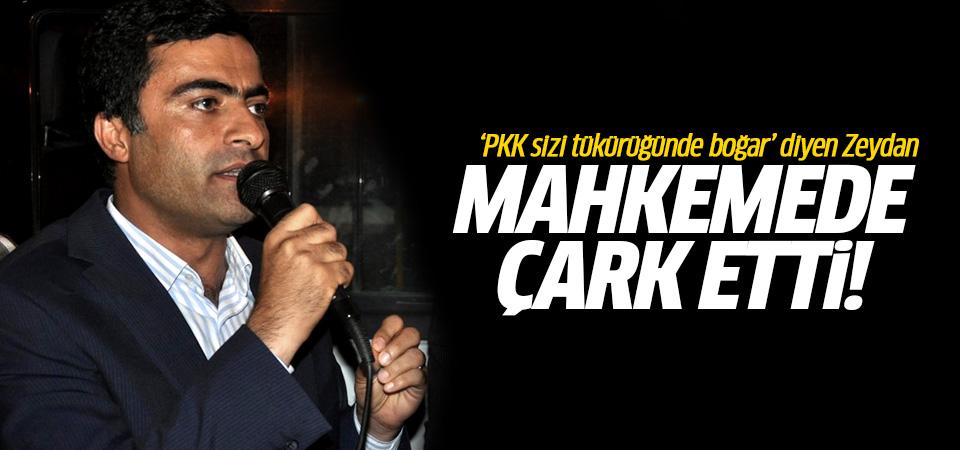 'PKK sizi tükürüğüyle boğar' diyen Zeydan mahkemede çark etti