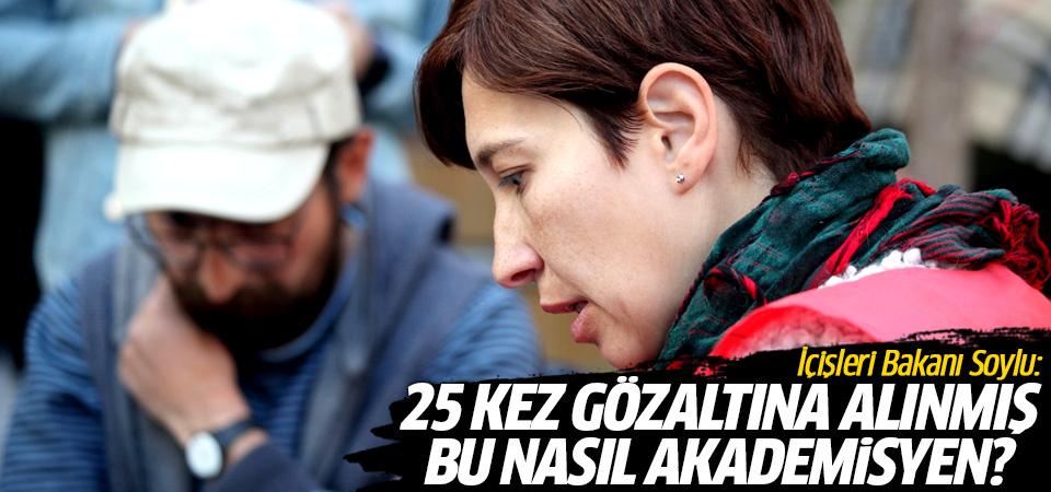 Bakan Soylu: 25 kez gözaltına alınmış bu nasıl akademisyen?