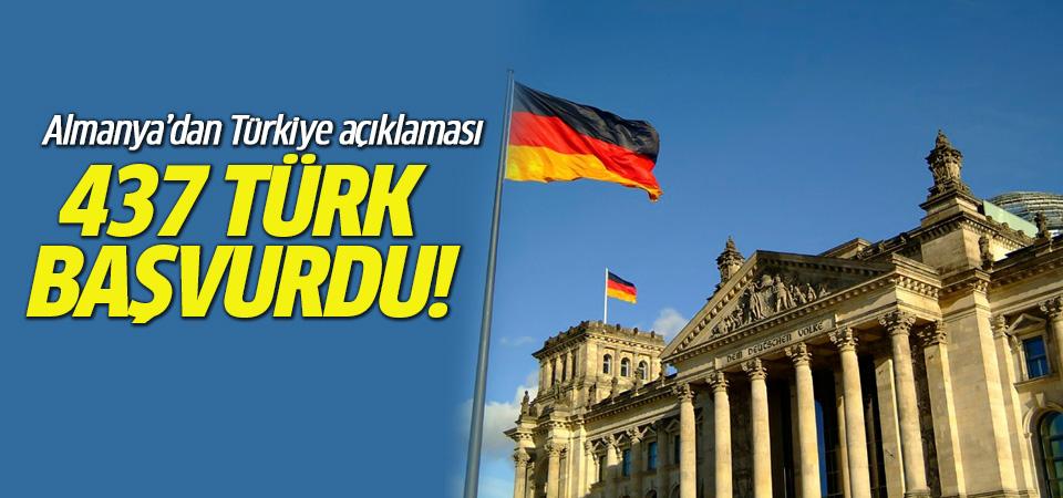 Almanya'dan Türkiye açıklaması: Tam 437 kişi talepte bulundu