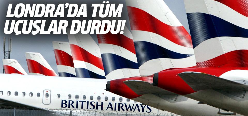 Londra'da uçuş kaosu! British Airways, tüm seferlerini iptal etti