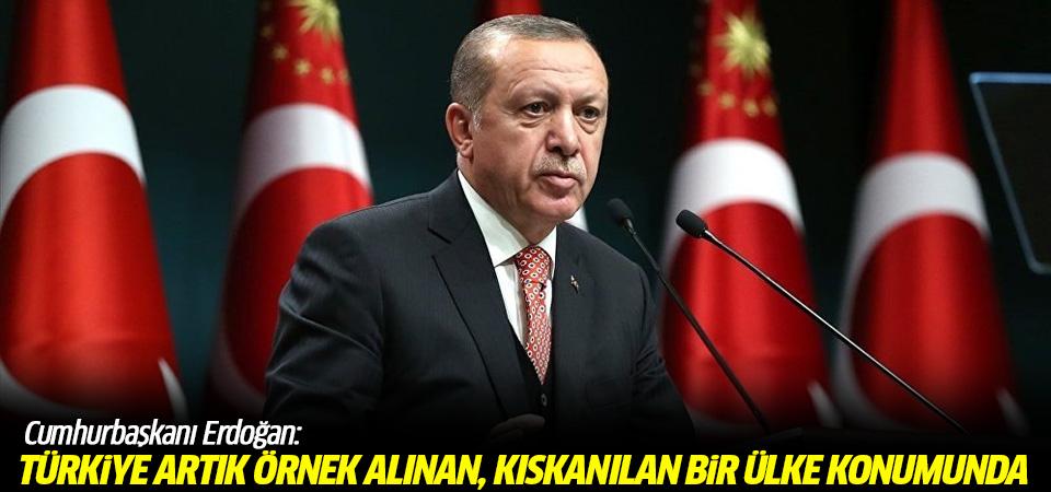 Erdoğan: Türkiye artık örnek alınan, kıskanılan bir ülke konumunda