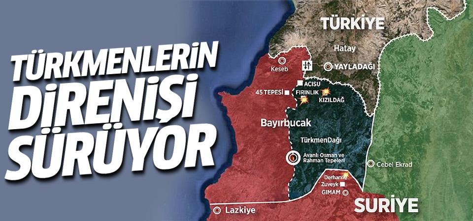Suriye rejimi Türkmendağı'nı vurdu