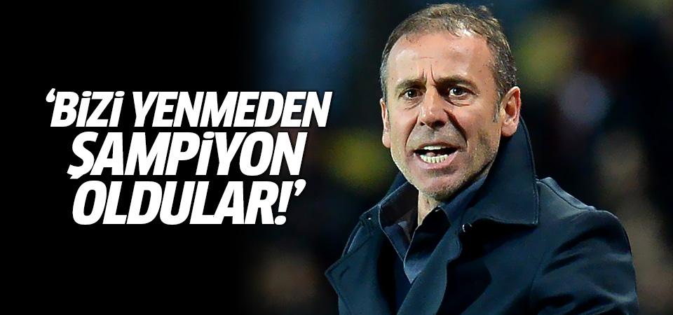 Abdullah Avcı: Bizi yenemeyen bir takım şampiyon oldu!