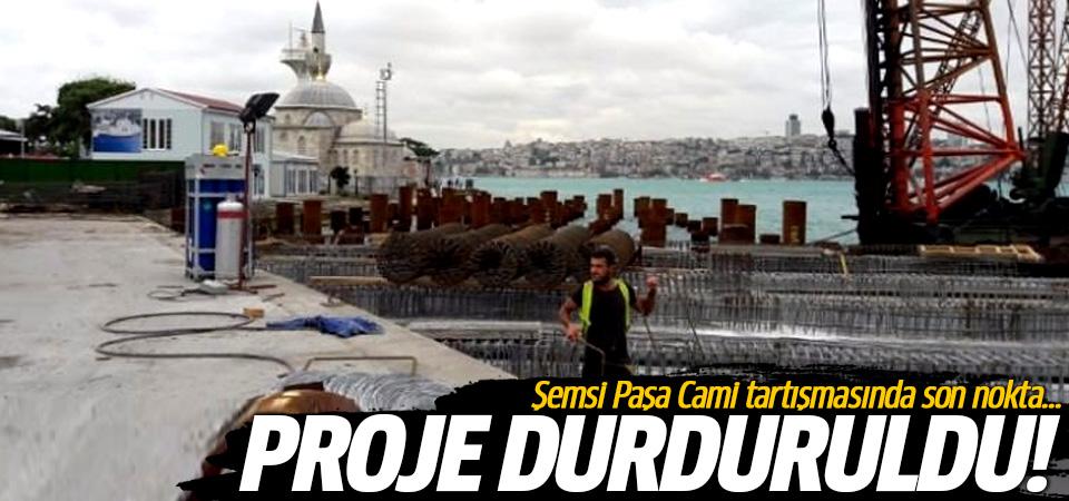 Şemsi Paşa Cami tartışmasında son nokta! Proje durduruldu