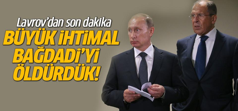 Rusya, Bağdadi'nin ölümüne 'neredeyse kesin' diyor