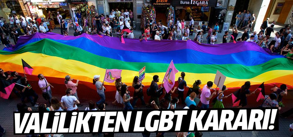 İstanbul Valiliği'nden LGBT yürüyüşü kararı