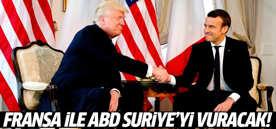 Trump ve Macron anlaştı: Kimyasal saldırı olursa Suriye vurulacak!