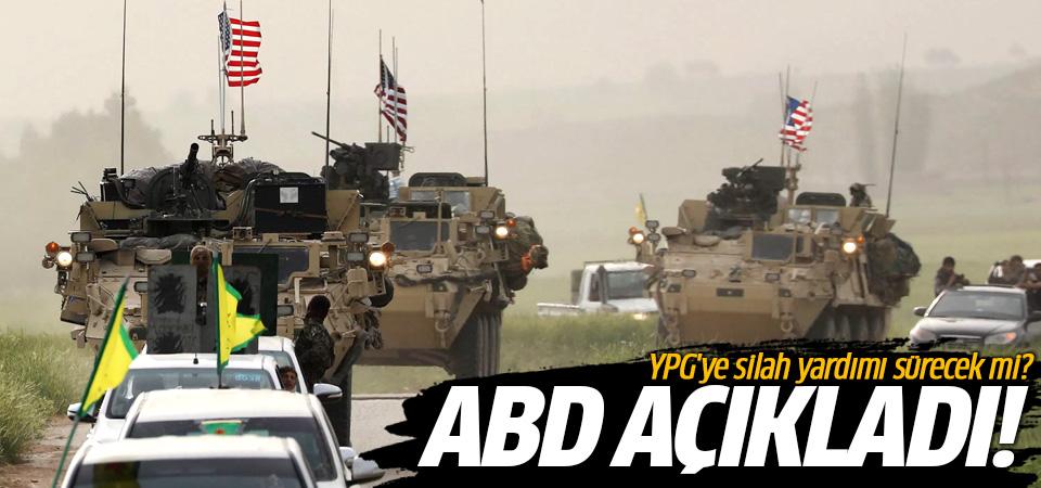 ABD: YPG'ye silah desteği sürecek