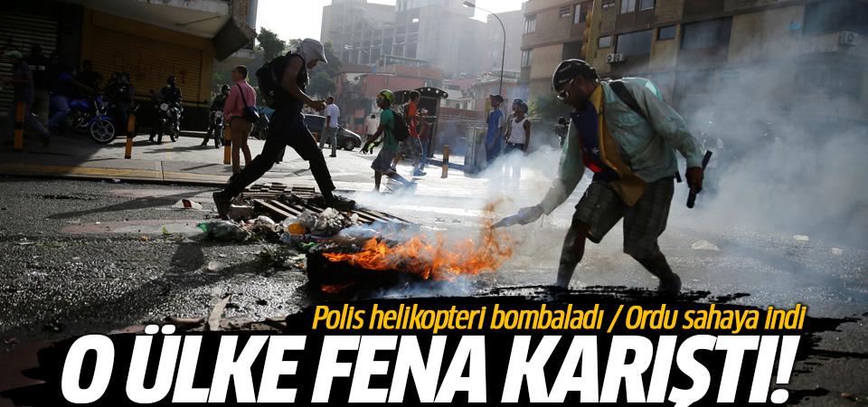 Venezuela'da helikopterli saldırı! Ordu sahaya indi...