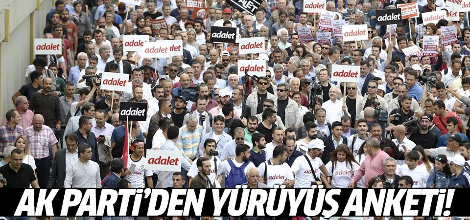 AK Parti'den Adalet Yürüyüşü anketi
