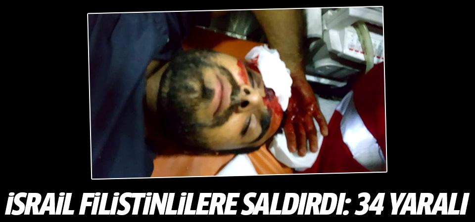 İsrail, Filistinlilere saldırdı: 34 yaralı