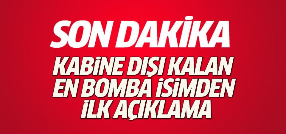 Kabine dışı kalan Tuğrul Türkeş'ten ilk açıklama