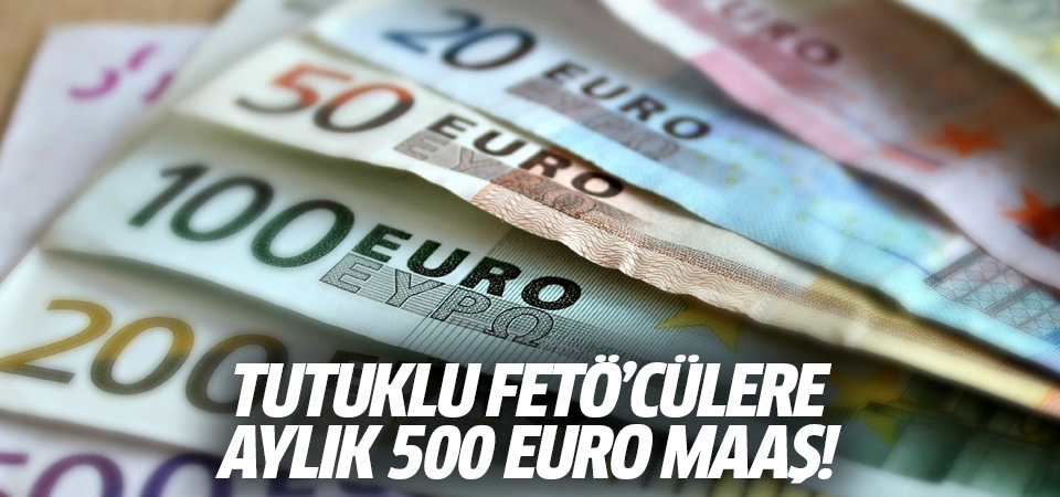FETÖ'cülere aylık 500 Euro maaş!