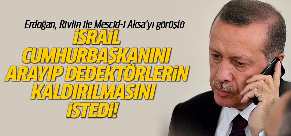 Cumhurbaşkanı Erdoğan'dan Mescid-i Aksa açıklaması