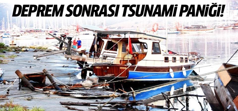 Ege'de deprem sonrası tsunami paniği!