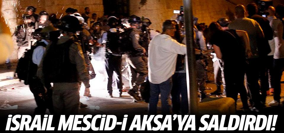 İsrail Mescid-i Aksa'ya saldırdı!