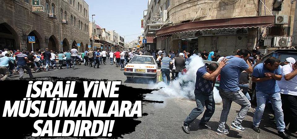 İsrail yine Mescid-i Aksa'ya saldırdı!