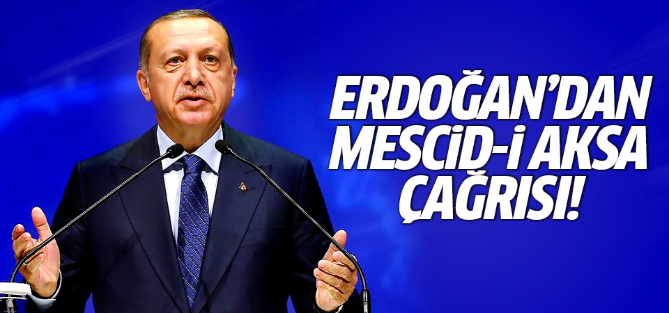 Erdoğan'dan Mescid-i Aksa çağrısı