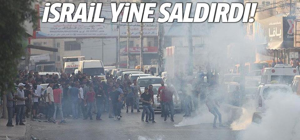 İşgalci İsrail yine saldırdı: Yaralılar var!