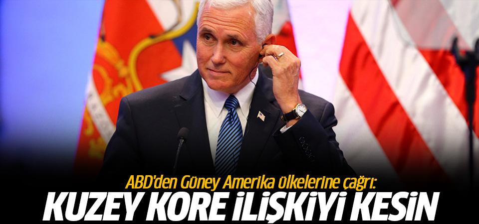 ABD'den Güney Amerika ülkelerine çağrı: Kuzey Kore ile ilişkiyi kesin