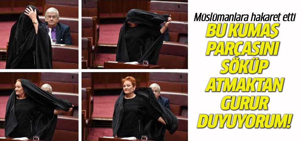 Avustralya Parlamentosu'nda İslamofobik tepki