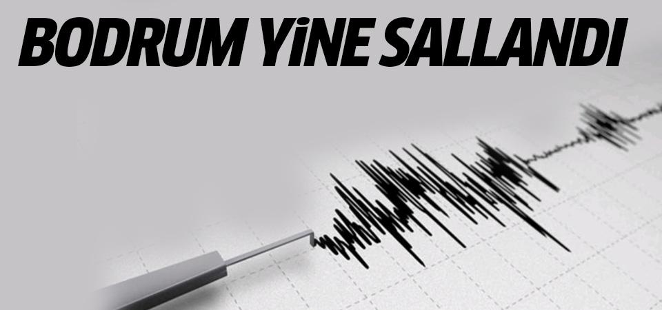 Bodrum'da art arda korkutan depremler