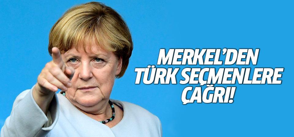 Merkel'den Türk seçmenlere çağrı