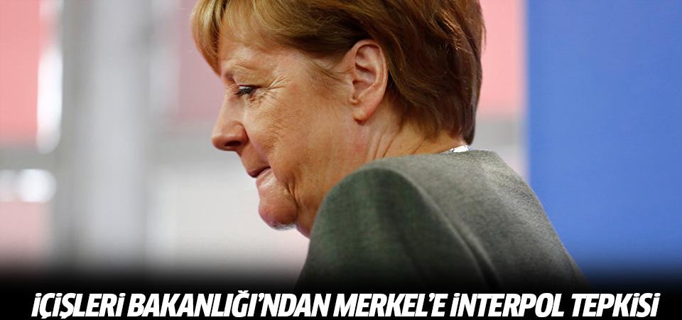 İçişleri Bakanlığı'ndan Merkel'e Interpol tepkisi