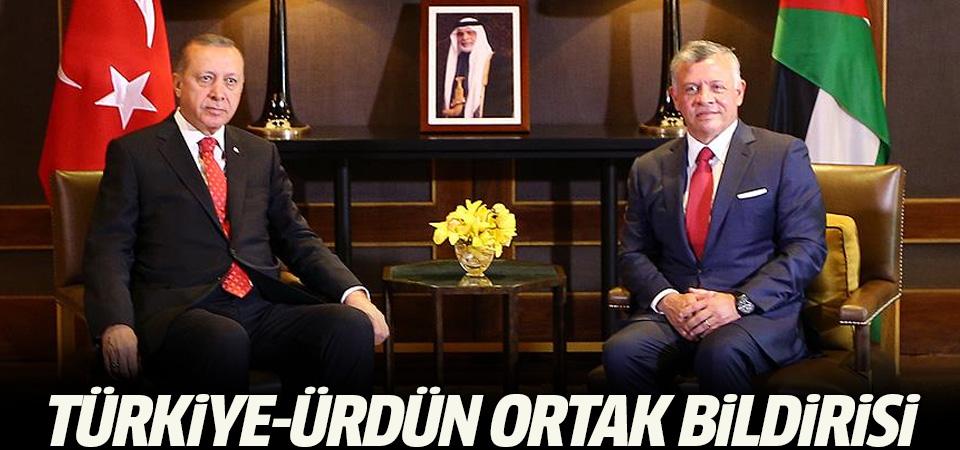 Türkiye-Ürdün ortak bildirisi