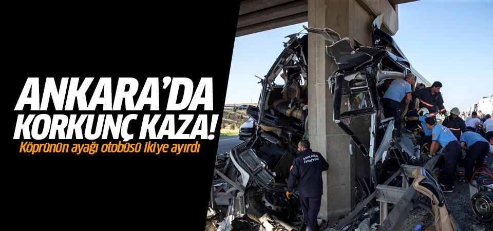 Ankara'da yolcu otobüsü köprü ayağına çarptı:5 ölü