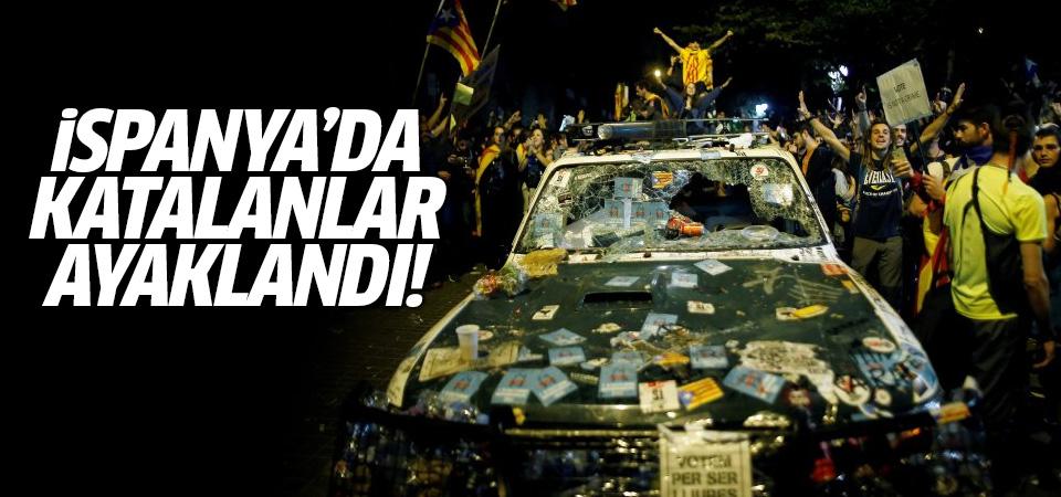 İspanya'da Katalonlar sokaklara döküldü