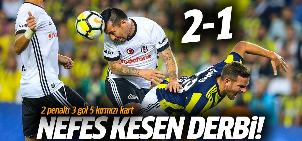Nefes kesen derbi Fenerbahçe'nin! 3 gol 5 kırmızı kart
