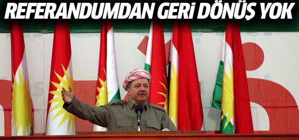 Barzani: Referandumdan geri dönüş yok