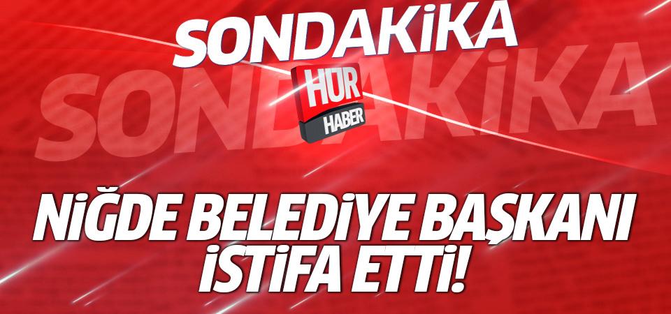 Niğde Belediye Başkanı Faruk Akdoğan istifa etti