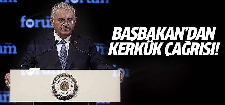 Başbakan Yıldırım'dan Irak Hükümeti'ne Kerkük çağrısı