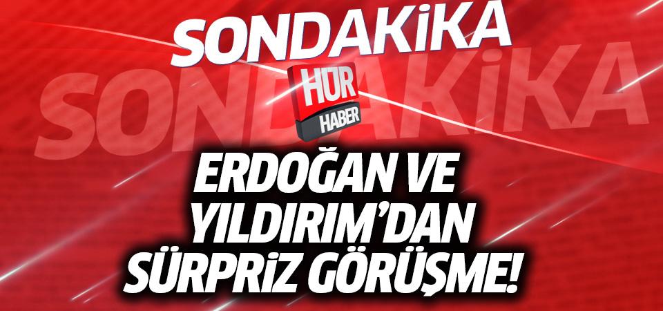 Cumhurbaşkanı Erdoğan, Başbakan'la görüşüyor