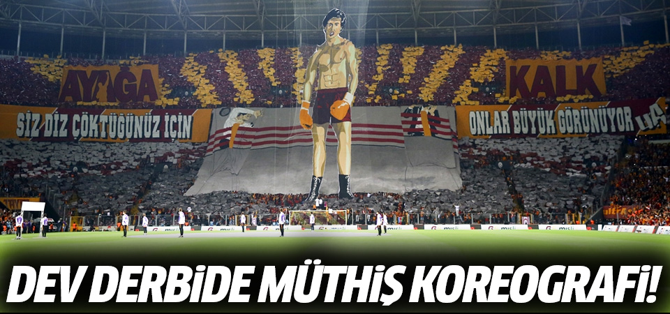 Galatasaray'dan Rocky'li koreografi! Galatasaray taraftarından muhteşem koreografi