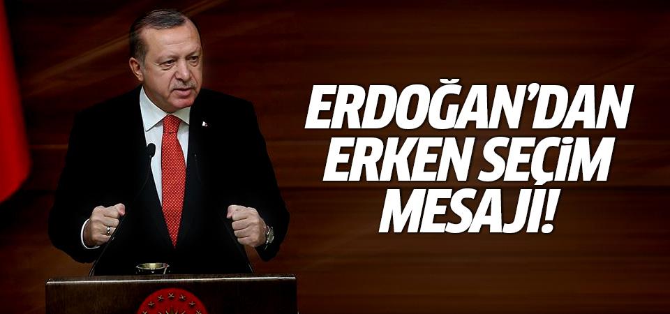 Erdoğan'dan erken seçim sorusuna cevap