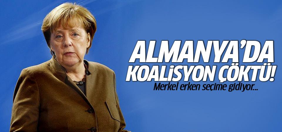 Almanya'da koalisyon görüşmeleri çöktü! Merkel erken seçime gidiyor