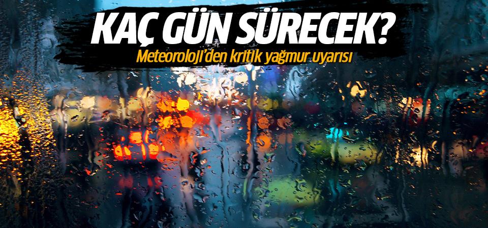 Meteoroloji'den İstanbullulara kritik yağış uyarısı! 20 saatlik yağış geliyor