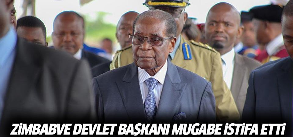 Zimbabve Devlet Başkanı Mugabe istifa etti
