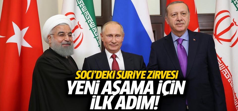 Soçi'de Erdoğan, Ruhani, Putin zirvesi