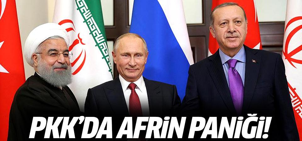 PKK'da Afrin paniği: Örgütün elebaşı ABD'ye yalvardı