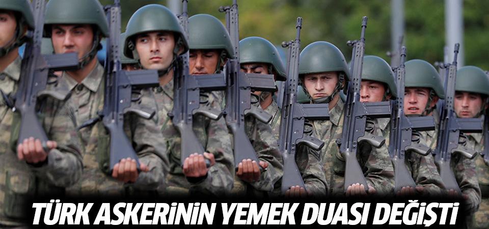 Türk askerinin yemek duası değişti