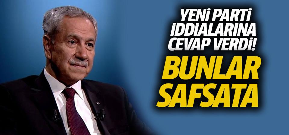Bülent Arınç, yeni parti iddialarını yalanladı
