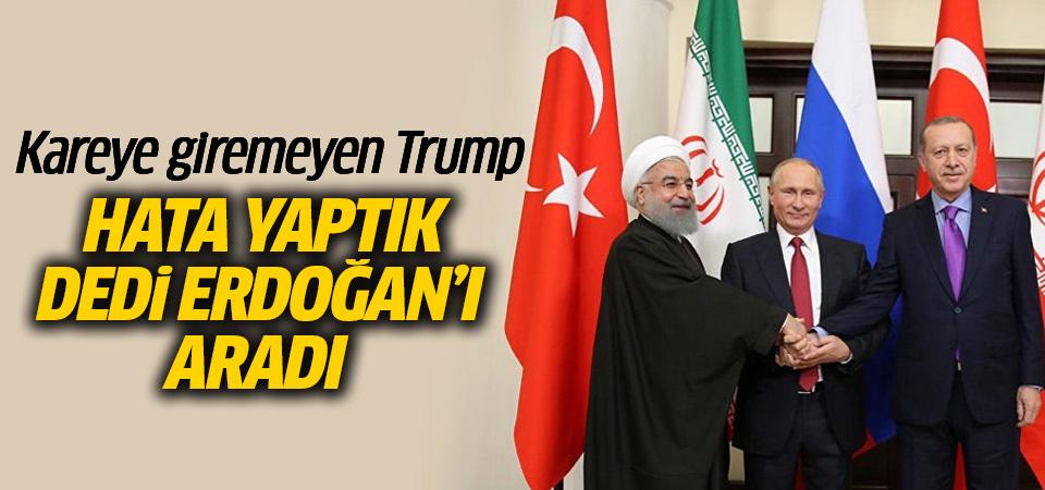 Donald Trump, Cumhurbaşkanı Erdoğan'ı aradı